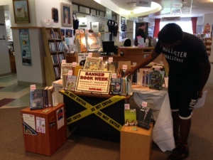 Banned Book Week Display