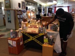 Banned Book Week Display