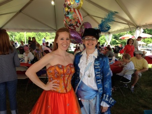 Jessica and Michelle at the June Fete 2014